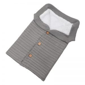 BlissBubs™ Baby Knitted Snuggle Wrap – Gray
