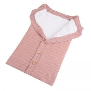 BlissBubs™ Baby Knitted Snuggle Wrap – Pink