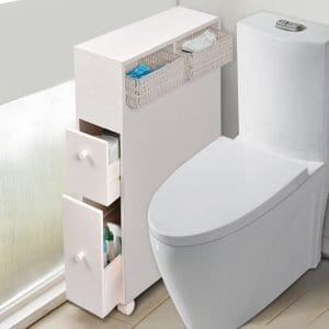 Bathroom Storage Caddy Cabinet