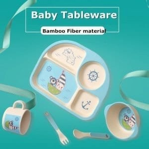 Super Cute Environmentally Friendly Baby Tableware Set of 5